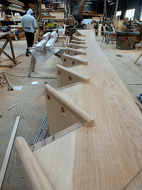 oak stairs at Friary Carpentry
