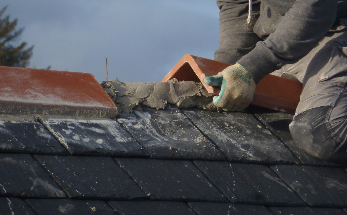 placing ridge tiles