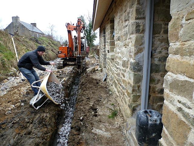 stone in drain