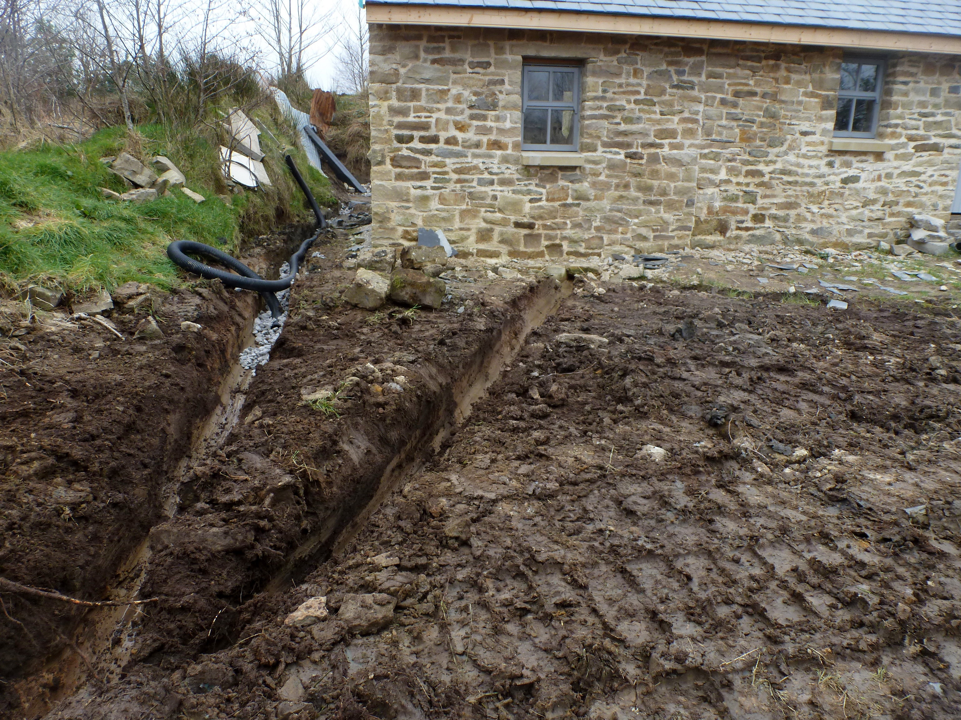 French drains and shughs limewindow for What does a french drain look like