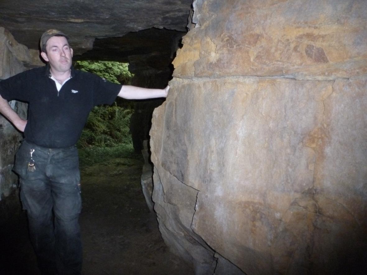 Brian Kerriagan in Drumkeelan mines