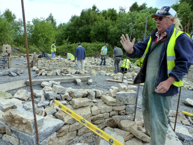 Sean Adcock from The Dry STone Wall Association of Wales
