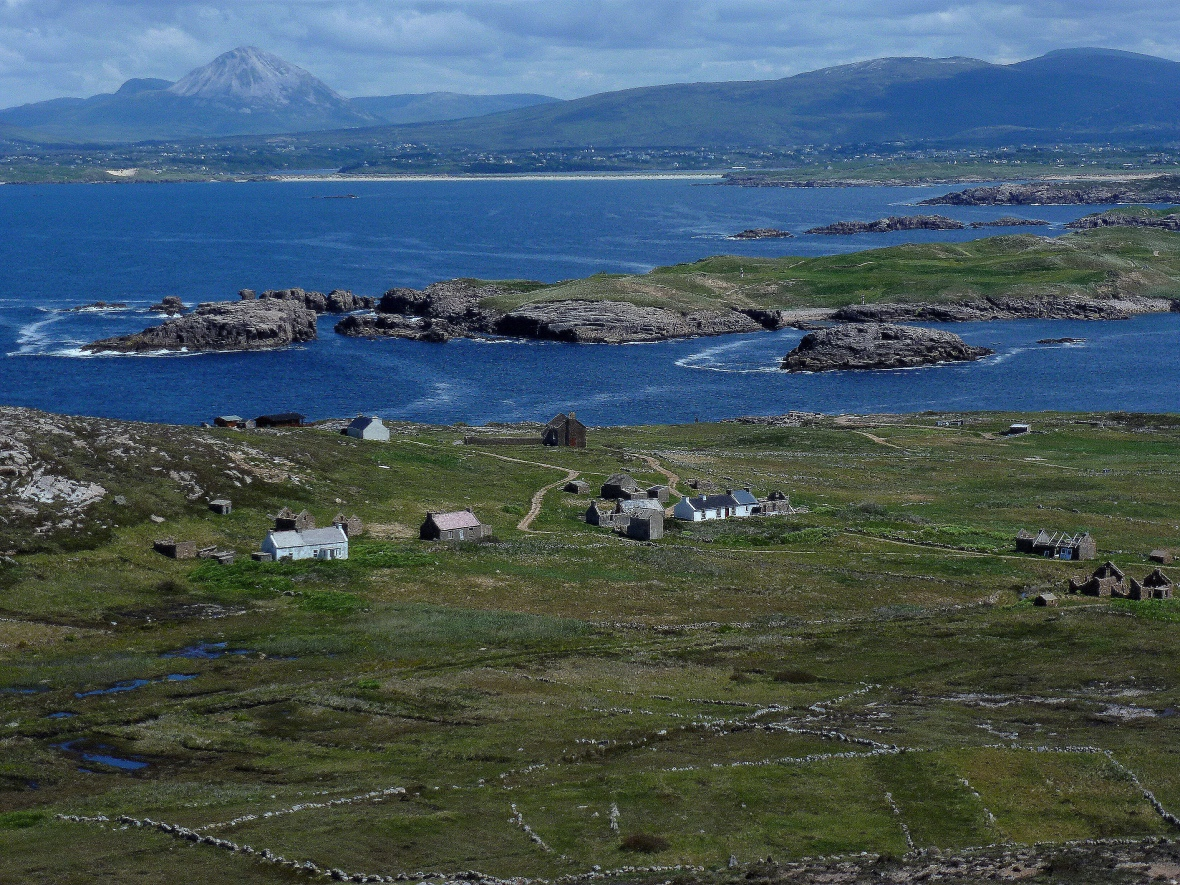 Owey Island - with Errigal mountain beyond