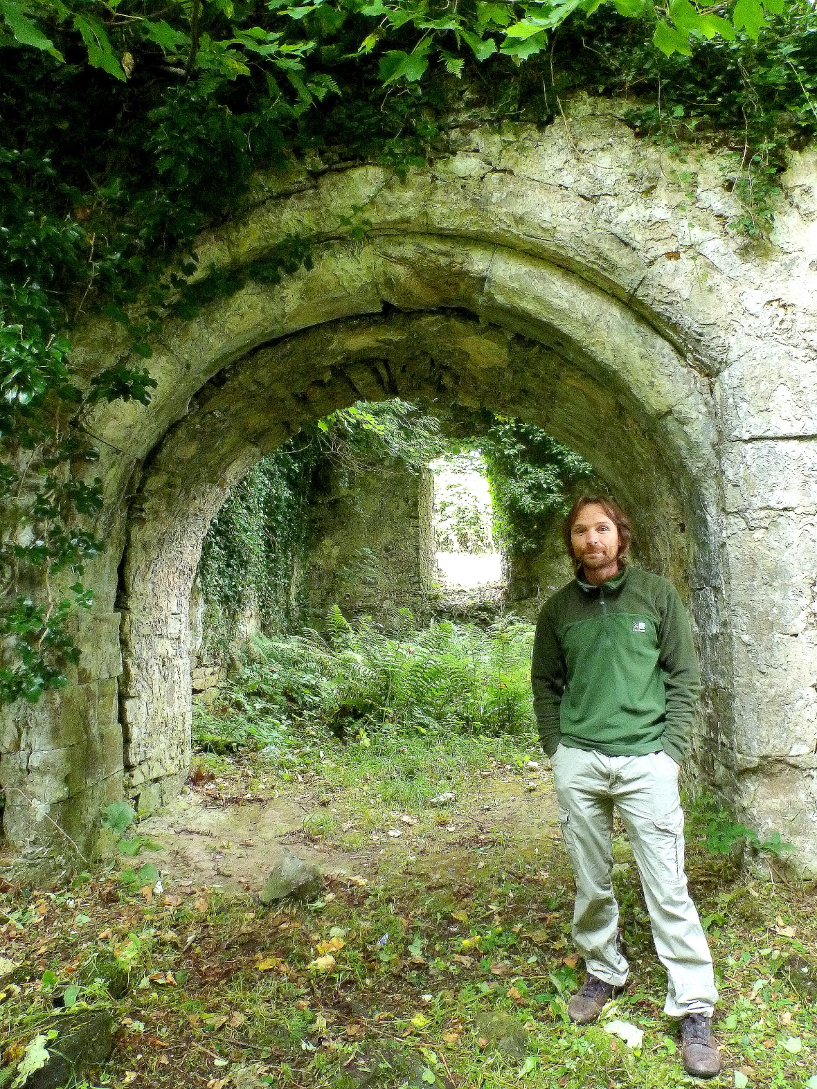 Heritage Officer Hugh Boyle, at the entrance to the transcept
