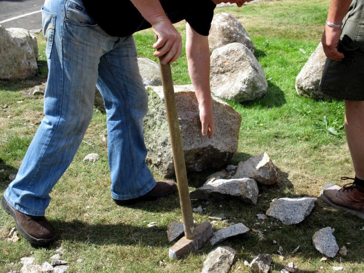 sledging granite