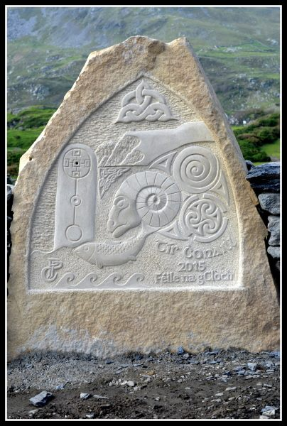 Essence of Glencolmcille - carved by Paul 'Phaid' Cunningham from Drumkeelan Sandstone